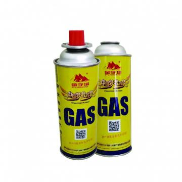 Outdoor camping BBQ 220g butane gas cartridge bottle for camping stove